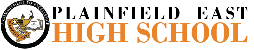 Plainfield East High School logo centered